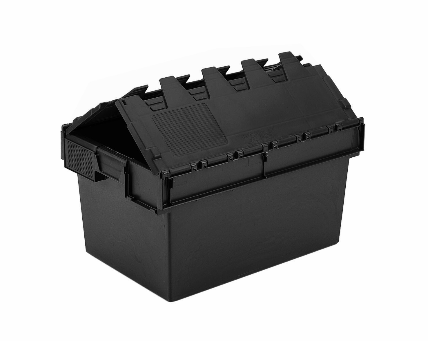 54l Attached Lid Container 600 X 400 X 320h Mm
