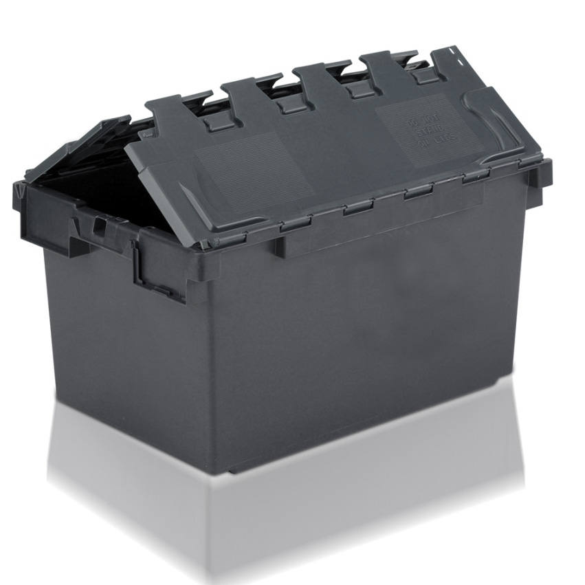 Tote Box 80l Attached Lid Container Eco Tote 710 X