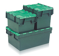 Tote Boxes & Attached Lid Containers