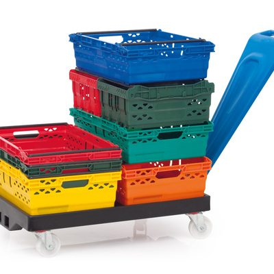 Colour Coded Supermarket Crates
