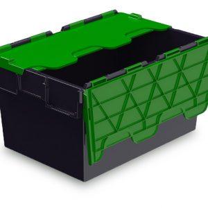54L ALC black with green lid